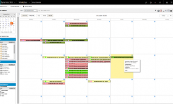 Calendar Option for Microsoft Dynamics 365